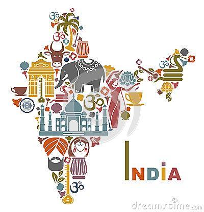 Carte De L'Inde - Télécharger parmi plus de 43 Millions des photos, d'images, des vecteurs et . Inscrivez-vous GRATUITEMENT aujourd'hui. Image: 43099304