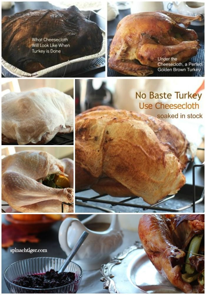 No need to ever baste. Video and blog post Roast turkey with Cheesecloth by Angela Roberts