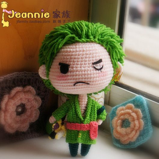 Amigurumi One Piece Patrones : Rononoa Zoro One piece Crochet knitting sewing ...