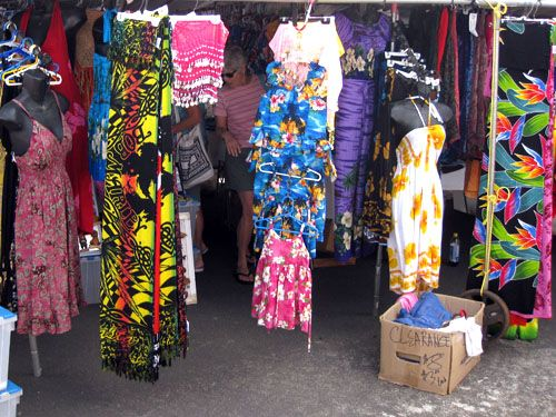 Maui Swap Meet every Saturday morning in Kahului, shopping for bargain souvenirs, flowers, fruits, vegetables, clothing, jewelry, art, and everything else you can imagine, directly from Maui residents. Activities in Maui Hawaii