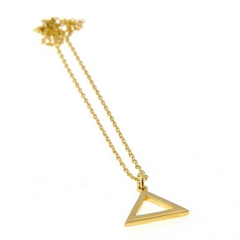 Pyramid pendant gold plated