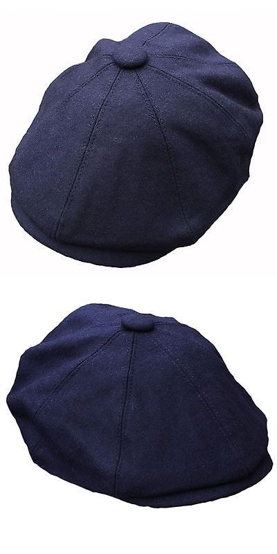 8bbdad3f Mens Hats 163619: G And H Navy Wool Newsboy 8 Panel 1920S Peaky Blinders  Style Gatsby Flat Cap Hat -> BUY IT NOW ONLY: $13.49 on #eBay #newsboy  #panel ...