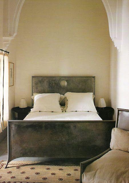 Frédéric Butz bed at Dar Kawa, Marrakech