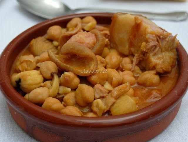 Asopaipas. Recetas de Cocina Casera .: Guiso de Garbanzos, Callos y Castañas
