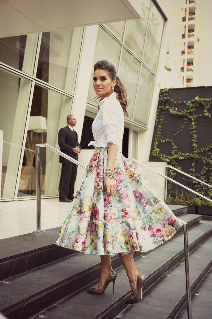 Camila Coelho   Saia Midi Floral