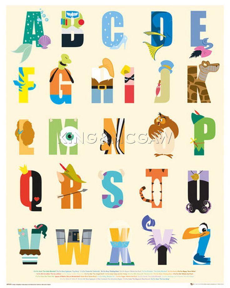 Disney - Alphabet Poster by Disney at King & McGaw