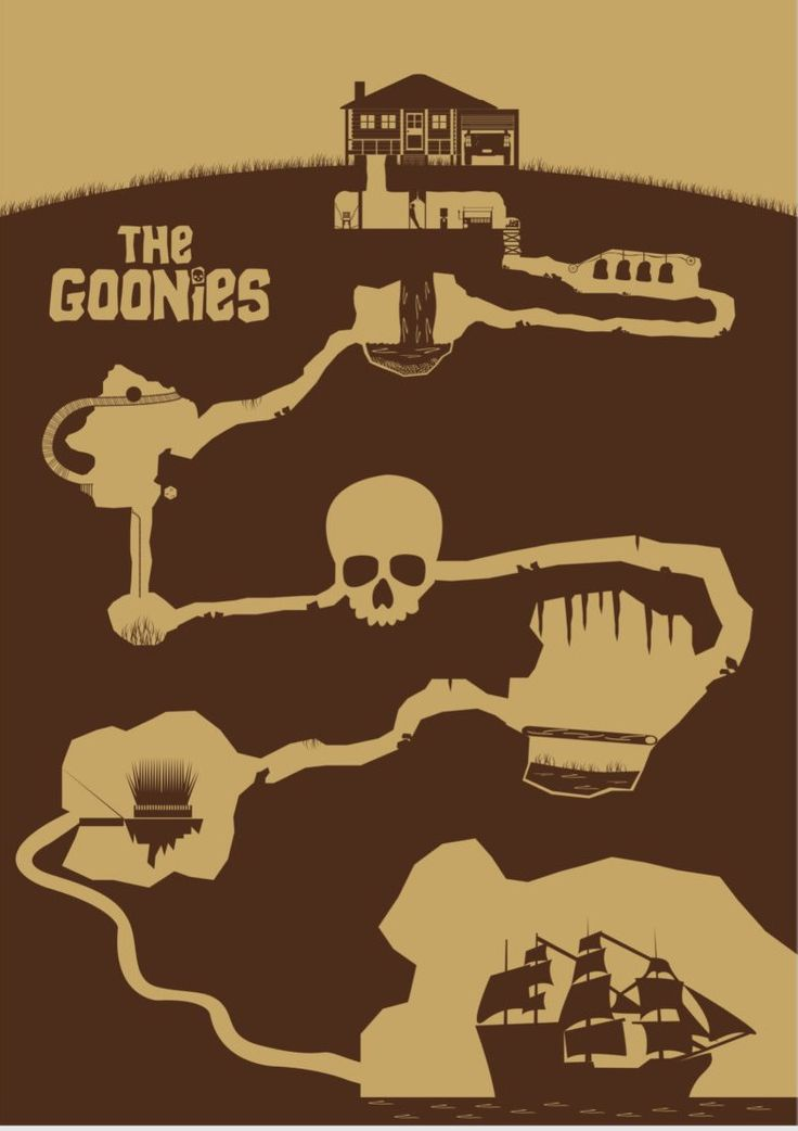 #TheGoonies #1985 #Minimal #DavidPeacock #amusementphile #movie #alternative #illustration #graphic #film #poster #design #art