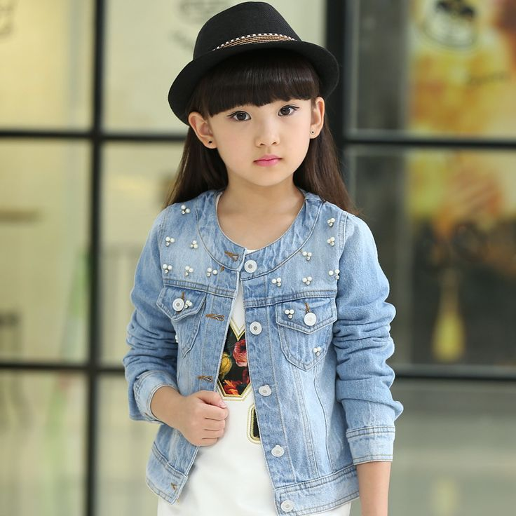 Cheap denim jacket kids, Buy Quality jacket kids directly from China kids outerwear coats Suppliers: Korean 2017 Spring Summer Girls Fashion Denim Jacket Kid Casual Short Style Round Collar Beading Long-Sleeve Outerwear Coat G580