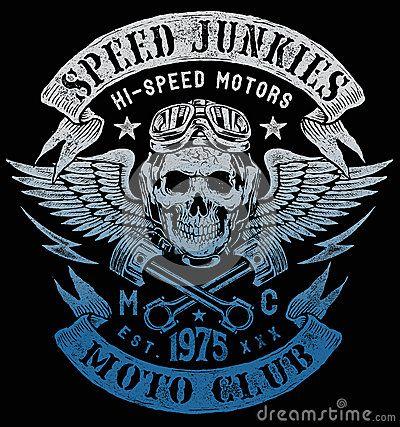 Conception de vintage de moto de drogués de vitesse