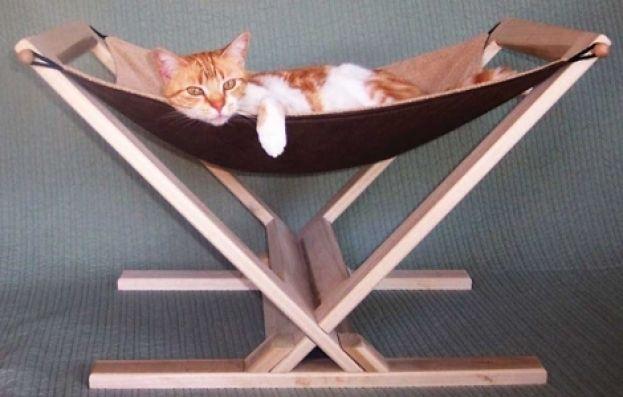 как сделать гамачок для кошки