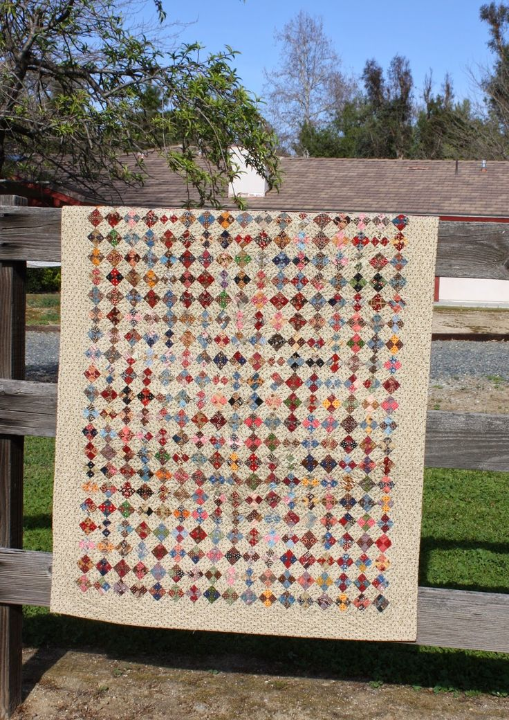 Little four Patch....I want to make this! Directions included. Temecula Quilt Company