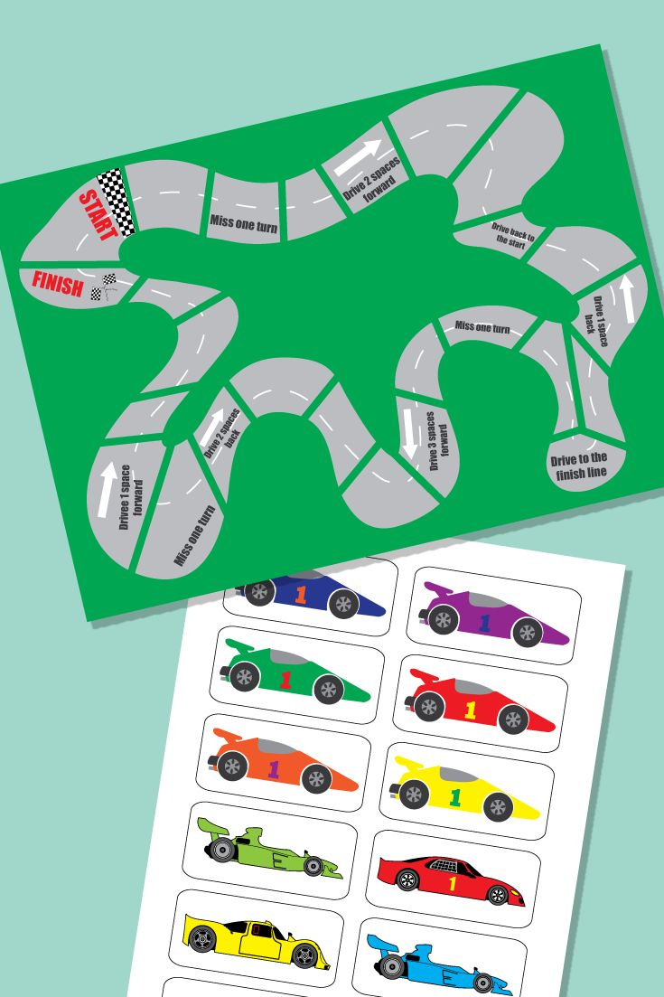 Racing Car Maths Board Game