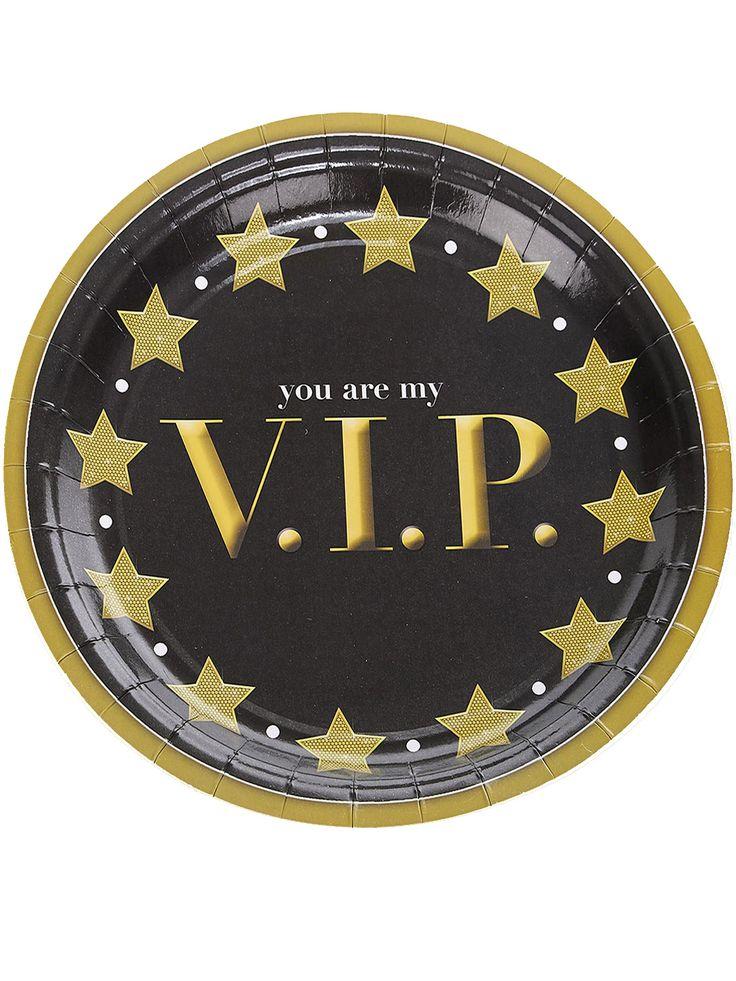 8 piatti in cartone VIP su VegaooParty, negozio di articoli per feste. Scopri il maggior catalogo di addobbi e decorazioni per feste del web,  sempre al miglior prezzo!
