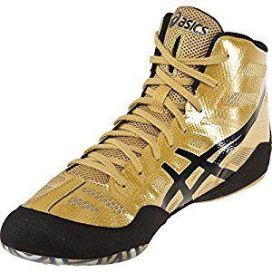 Asics Logo Shoes jb Elite Jordan Burroughs Black Onyx Oly - Gold J3 A1Y 9490 - £63.00