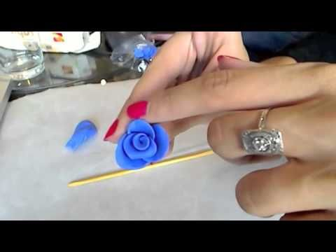 Tuto Fimo : réaliser une rose, simple et rapide - YouTube