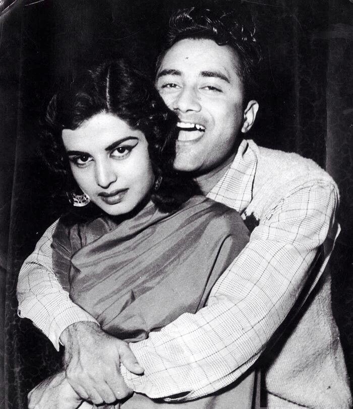 Dev Anand with wife Kalpana Kartik