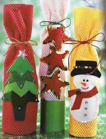 Lembrancinhas, saquinhos de Natal com enfeites em eva ou feltro | Cacareco