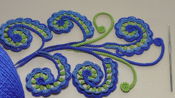 Урок вязания крючком. ЗАВИТОК для ирландского кружева.Irish crochet lace.