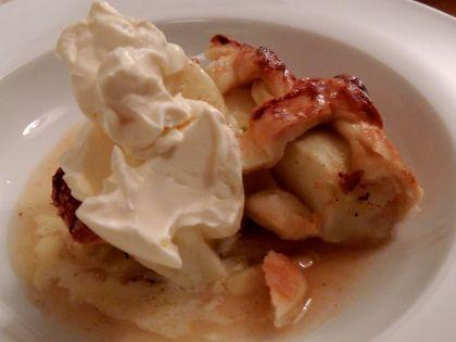 Apple, cinnamon and cardamom lattice pie