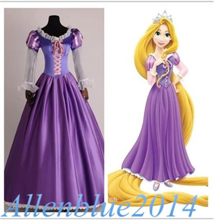 New Adult Rapunzel Outfit Fancy Dress Cosplay Costume Princess Fairytale Tangled | Clothing, Shoes & Accessories, Costumes, Reenactment, Theater, Costumes | eBay!