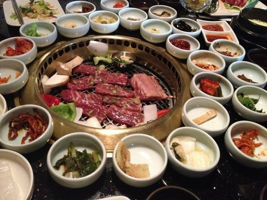 Korea genwa korean bbq 5115 wilshire blvd los angeles for Food bar wilshire