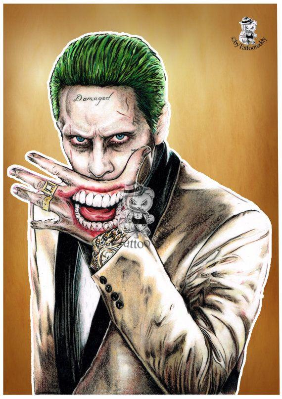 Joker 2 Farbig  Jared Leto  Jokersmile   Suicide von Tattooteddy