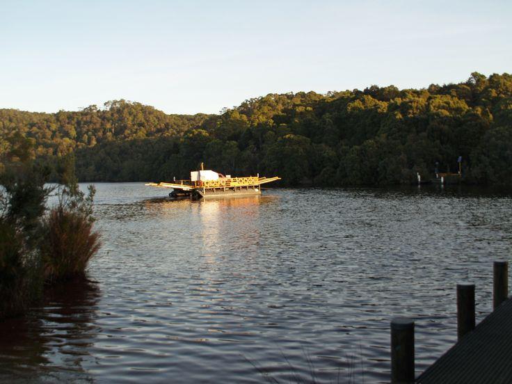 Crossing the Pieman River