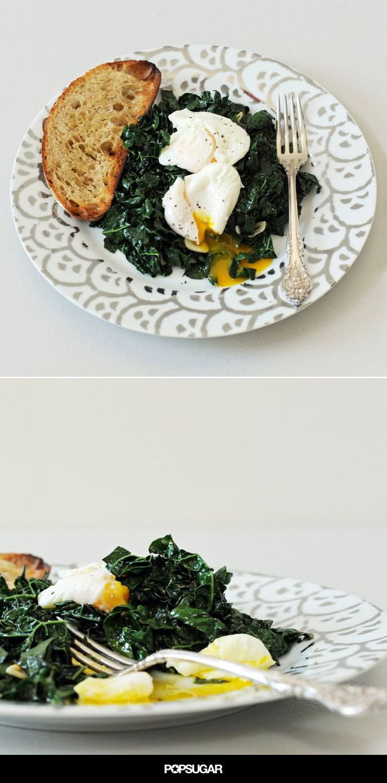 Simple, spicy, and satisfying, this weeknight-friendly kale and egg dish is just the sort of fodder I eat on an average night in. Sure, it's fun to fuss around prepping a more involved meal whose effort is worth the while, but when it comes to everyday dinners, I, like many, prioritize speed, relative wholesomeness, and a large payoff for relatively little effort. This recipe ticks all three boxes.