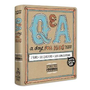 Q & A a Day for Kids: A Three-Year Journal. 1,095 conversations with your kid. I hear great things about this keepsake book!