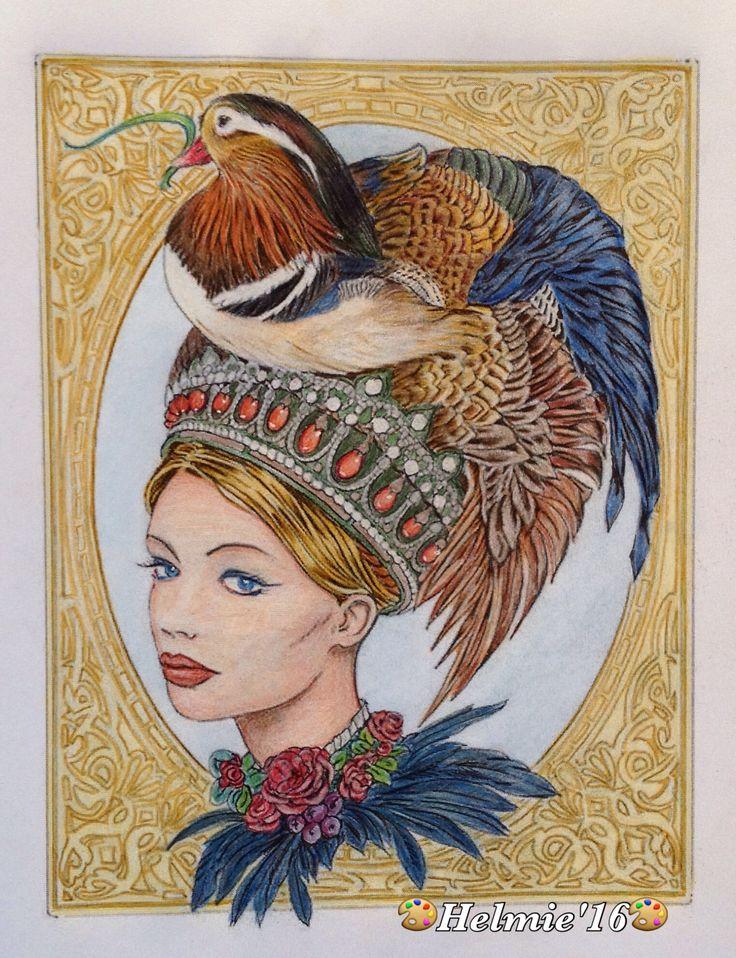 "Bennett Klein, ""Crown of Mandarin"" ""Colour My Sketchbook 2""; #bennettklein #colourmysketchbook #crownofmandarin"