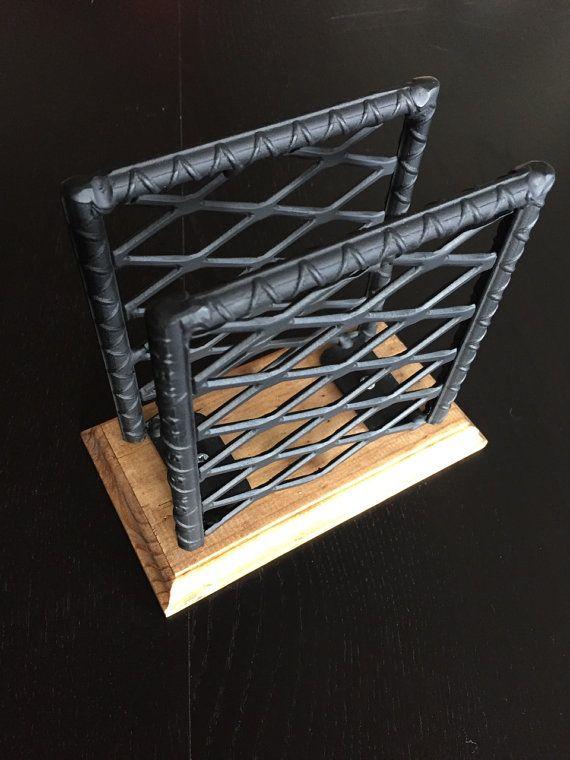 Industrial Napkin Holder. Rebar Napkin by JmartzFabrications