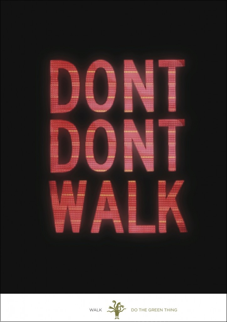 "Emily Oberman's ""Don't Don't Walk"" Poster"