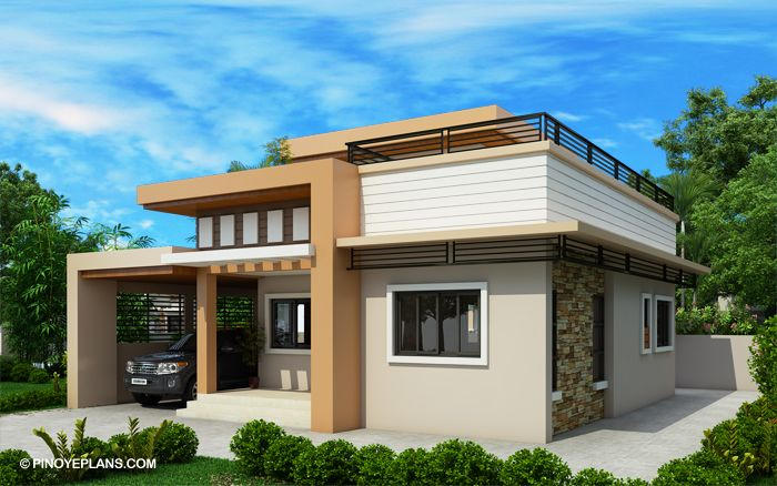 Kassandra Two Storey House Design With Roof Deck Pinoy Eplans Two Storey House House Roof Design Small House Elevation Design