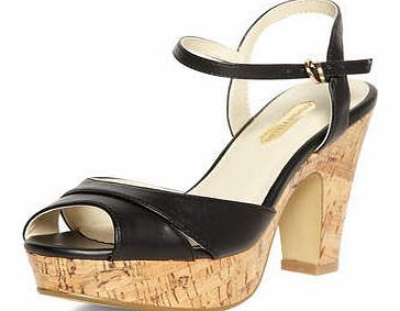 Dorothy Perkins Womens Black high cork sandals- Black DP22213101 Black high cork sandals. Heel height approx 4. 100% Polyurethane. http://www.comparestoreprices.co.uk/womens-shoes/dorothy-perkins-womens-black-high-cork-sandals-black-dp22213101.asp
