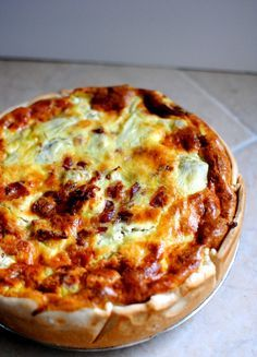 Goat Cheese, Bacon & Artichoke Quiche Recipe