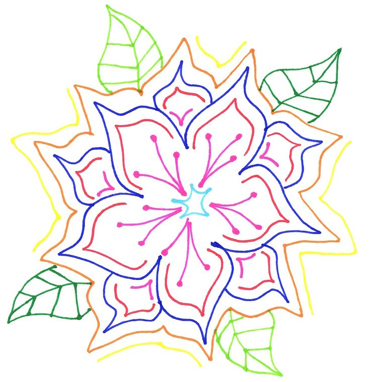 Flower I did with my new pens. #Flowers #Random #Drawing #Doodling
