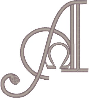 Machine Embroidery Design: Alpha & Omega Symbol #4