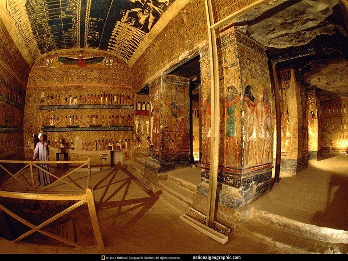 "Tomb of Nefertari - The first chief queen of Ramesses the Great -- Nefertari means ""Beautiful Companion"" National Geographic / qw"