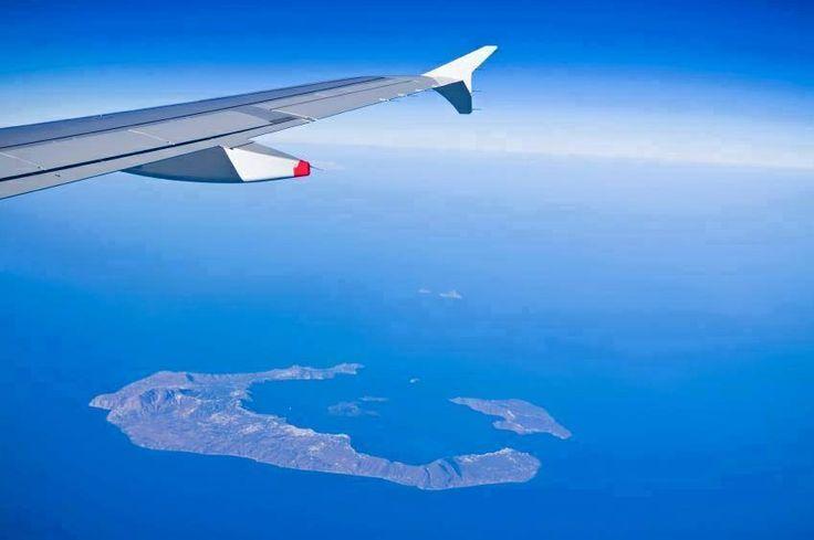 Santorini from above...., Aegean Sea, Greece !  esperas-santorini.com #santorini