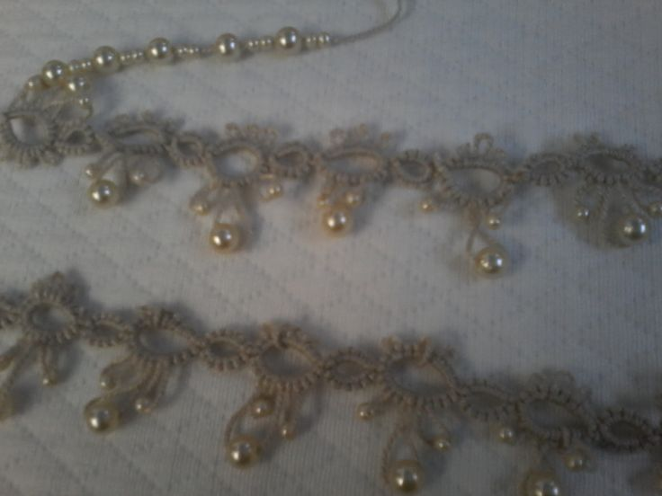 tatting y perlas