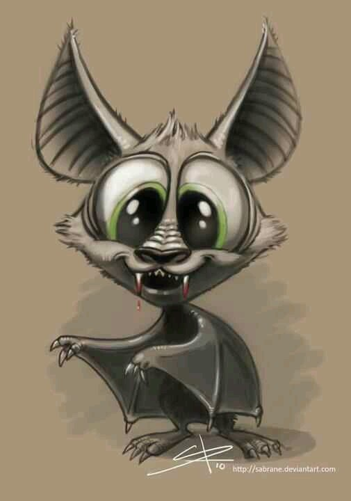 Cartoon vampire bat- I would totally get this as a tatt!