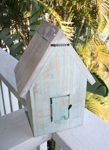 Beach Cottage Birdhouse- Aqua   Coastal Style Gifts