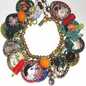 Bottle Cap Charm Bracelet I have bunches of bottle caps! I will try this!