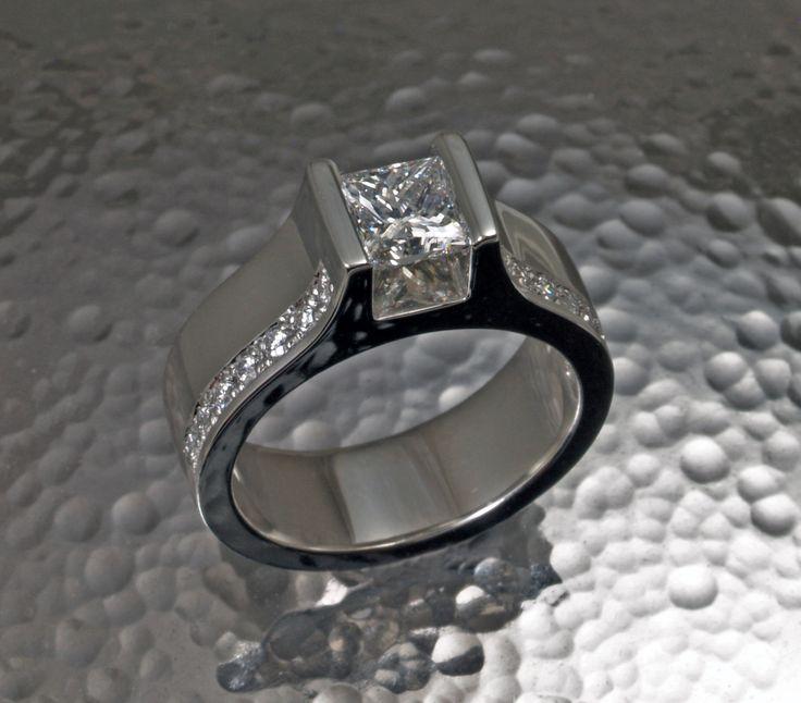 Hand crafted diamond ring by David Keeling Fine Jewellery in Edmonton, Alberta.