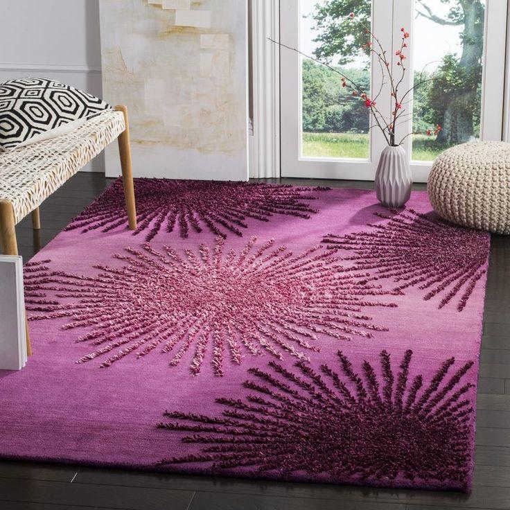 Beaufays Hand-Tufted Purple Area Rug