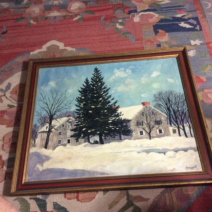 Harry Martin Book's Oil Painting, Pennsylvania, signed & dated 1946 #PennsylvaniaDutchlandscape