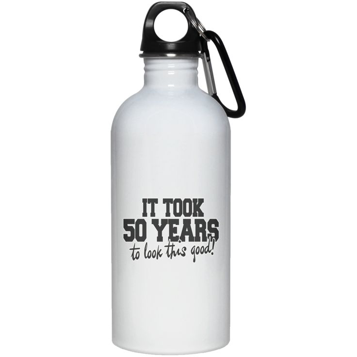 50TH BIRTHDAY PARTY HUMOR MENS 23663 20 oz. Stainless Steel Water Bottle