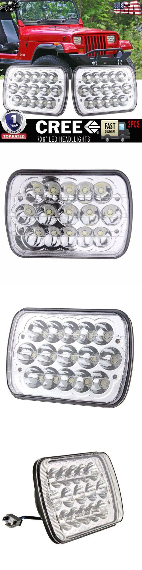 Car Lighting: 7X6 Led Sealed Beam Headlight H4656 4651 Upgrade Jeep Wrangler Yj 1987-1995 2Pc -> BUY IT NOW ONLY: $45.05 on eBay!