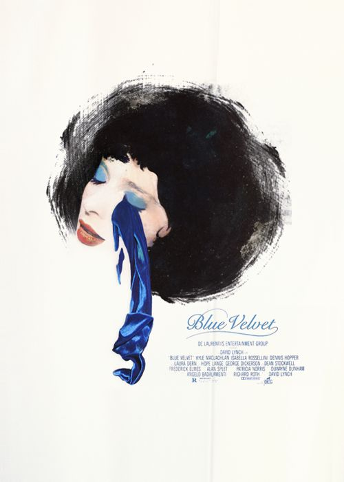 Isabella Rossellini in Blue Velvet - a movie by David Lynch- movie poster