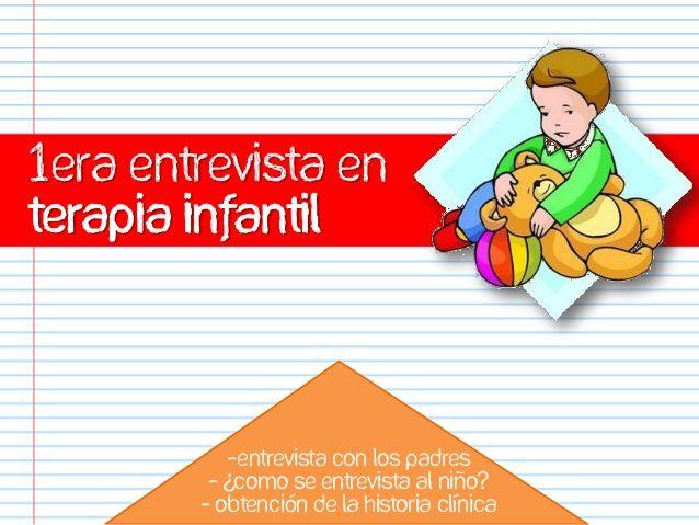 1era entrevista en terapia infantil -Entrevista con los padres - ¿Como se entrevista al niño? - Obtención de la historia ...